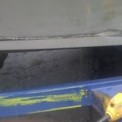 Inlaid Gel-Coat Multi Color Stripe Repair